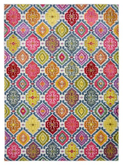 An Image of Melrose Villa Tile Rug - 80x150cm - Multi