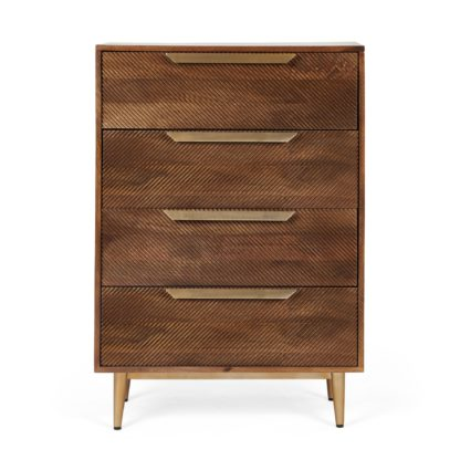 An Image of Anya 4 Drawer Chest Brown