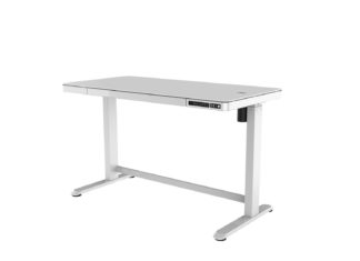 An Image of Koble Juno Height Adjustable Wireless Charging Desk - White
