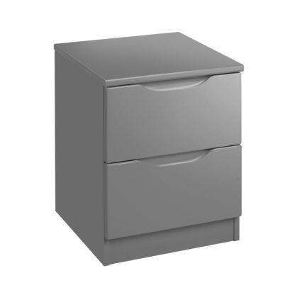 An Image of Legato Grey 2 Drawer Bedside Grey