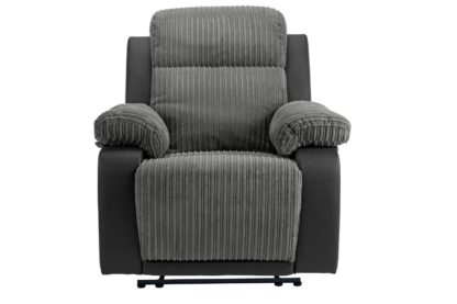 An Image of Argos Home Bradley Fabric Manual Recliner Chair - Charcoal