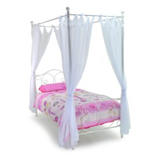 An Image of Ballet Metal Bed Frame White