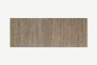 An Image of Enas Jute Runner, 70 x 200cm, Black
