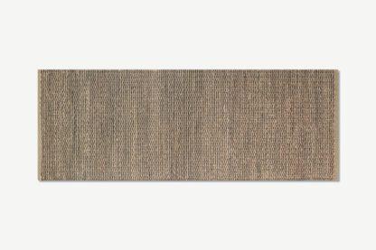 An Image of Enas Jute Runner, 70 x 200cm, Black