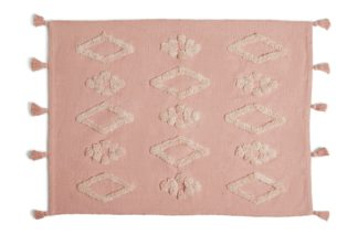 An Image of Habitat Agra Tufted Rug - 80X110cm - Pink