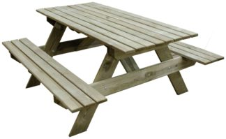 An Image of Forest Garden Rectangular 4 Person Picnic Table