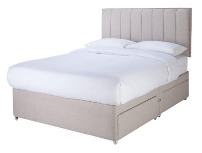 An Image of Sleepeezee Gel 1000 4 Drawer Double Divan Set