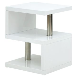 An Image of Polar Side Table - Gloss White