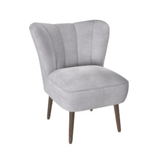 An Image of Abby Chenille Cocktail Chair - Silver Silver