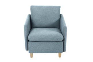 An Image of Habitat Mod Fabric Armchair with Arms - Blue