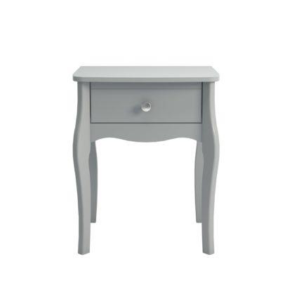 An Image of Baroque Grey Nightstand Grey