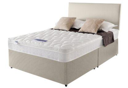 An Image of Silentnight Auckland Kingsize Divan Bed - Natural
