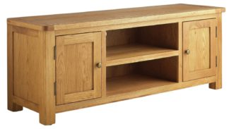 An Image of Habitat Kent 2 Door TV Unit - Oak