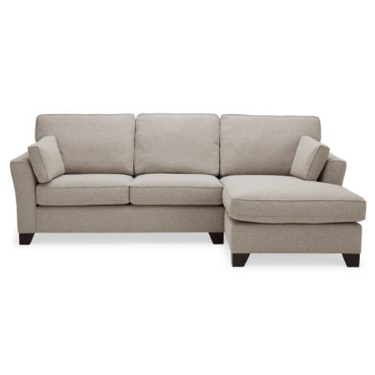 An Image of Grayson Right Hand Corner Chaise Sofa Brown