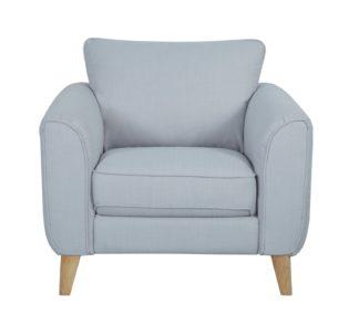 An Image of Habitat Cooper Fabric Armchair - Light Grey