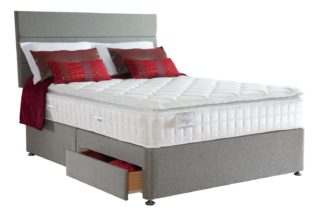 An Image of Sealy Posturepedic 1400 Pocket Latex 2 Drawer Kingsize Divan