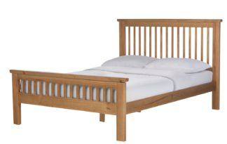 An Image of Argos Home Aubrey Small Double Bed Frame - Oak Stain