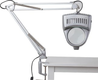 An Image of Argos Home Magnifier Swing Arm Desk Lamp - Silver