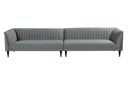 An Image of Baxter Six Seat Sofa – Dove Grey