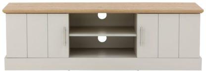 An Image of Easton Large 2 Door TV Unit - Grey
