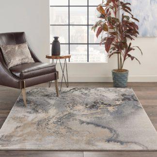 An Image of Grey Maxell 8 Rug Grey/Natural