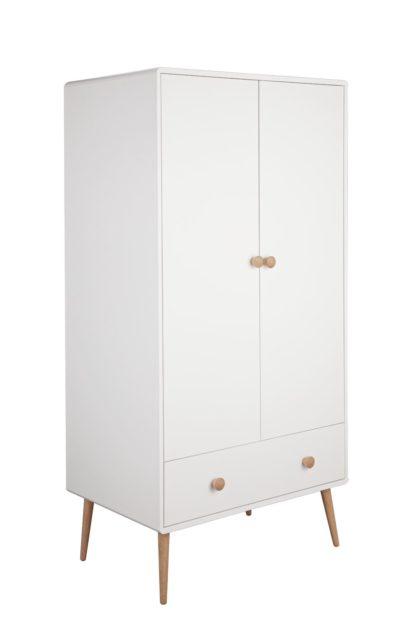 An Image of Argos Home Bodie 2 Door 1 Drawer Wardrobe - White