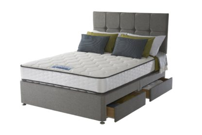 An Image of Sealy 1400 Pocket Microquilt 4 Drawer Double Divan