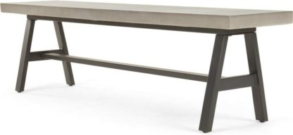 An Image of Edson Garden Large Bench, Cement and Metal