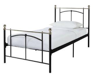 An Image of Habitat Yani Single Metal Bed Frame - Black