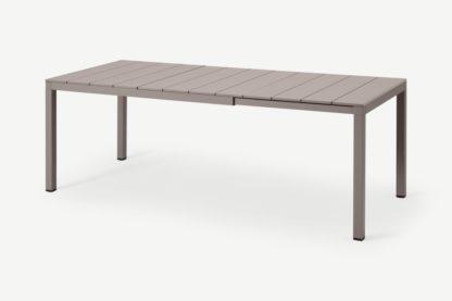 An Image of Nardi 6-8 Seat Extending Dining Table, Light Grey Aluminium