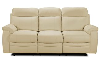 An Image of Argos Home Paolo 3 Seater Manual Recliner Sofa - Ivory