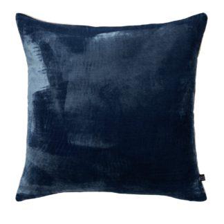 An Image of Habitat Regency 45 x 45cm Velvet Cushion - Ink Blue