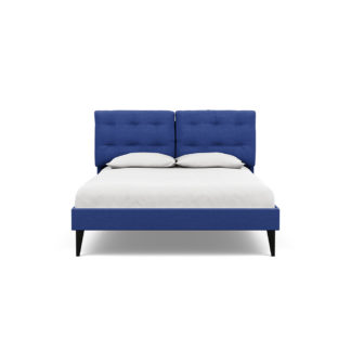 An Image of Heal's Mistral King Bed Brushed Cotton Cobalt