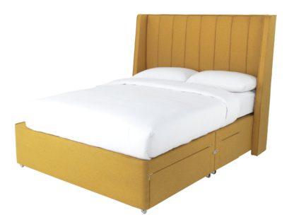 An Image of Sleepeezee Hybrid 2000 2+2 Conti Drawer Kingsize Divan -Rose