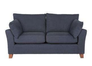 An Image of Argos Home Soren 2 Seater Fabric Sofa - Navy