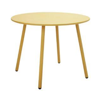 An Image of Argos Home Ipanema Round 4 Seater Garden Table - Yellow