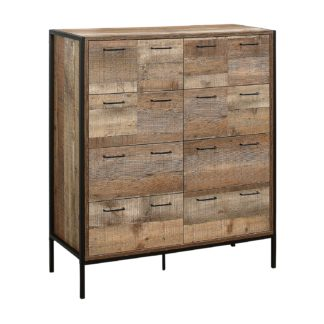 An Image of Urban Rustic 8 Drawer Merchant Chest - Natural Natural