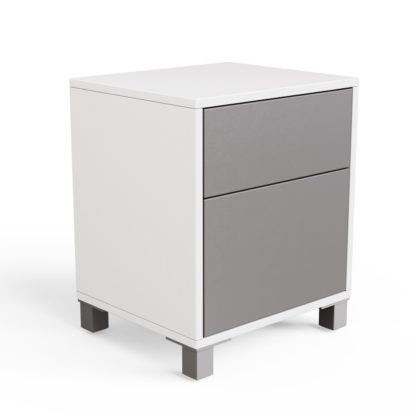An Image of Frank Olsen Wireless Charging Side Table - Grey & White