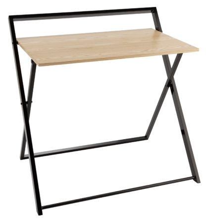 An Image of Habitat Compact Folding Office Desk - Black