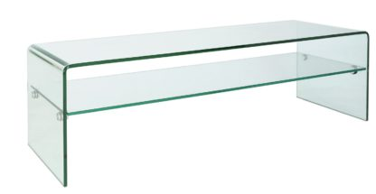 An Image of Habitat Gala TV Unit - Clear Glass