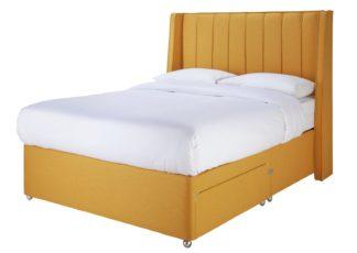 An Image of Sleepeezee Hybrid 2000 2 Drawer Kingsize Divan Set - Mustard