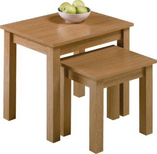 An Image of Habitat Nest of 2 Tables - Oak Effect
