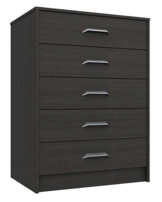 An Image of Ashdown 5 Drawer Chest - Dark Grey