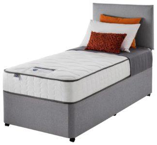 An Image of Silentnight Middleton 800 Pkt Comfort Single Divan - Grey