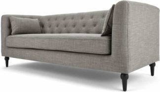 An Image of Flynn 3 Seat Sofa, Grey Linen Mix