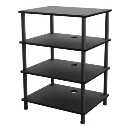 An Image of AVF 4 Shelf HiFi Stand - Black