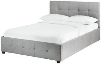 An Image of Habitat Eros Ottoman Kingsize Bed Frame - Grey