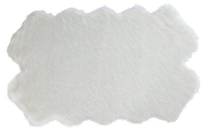 An Image of Argos Home Double Sheepskin Faux Fur Shaped Rug