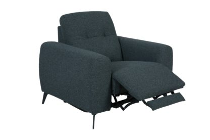An Image of Habitat Ghost Fabric Power Recliner Chair - Charcoal
