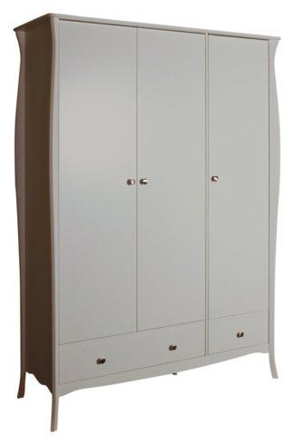 An Image of Amelie 3 Door 2 Drawer Wardrobe - Grey